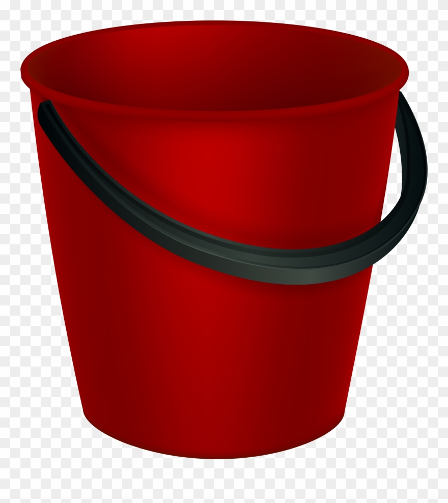 Red Bucket Png Clipart Image Transparent Png (#763767.