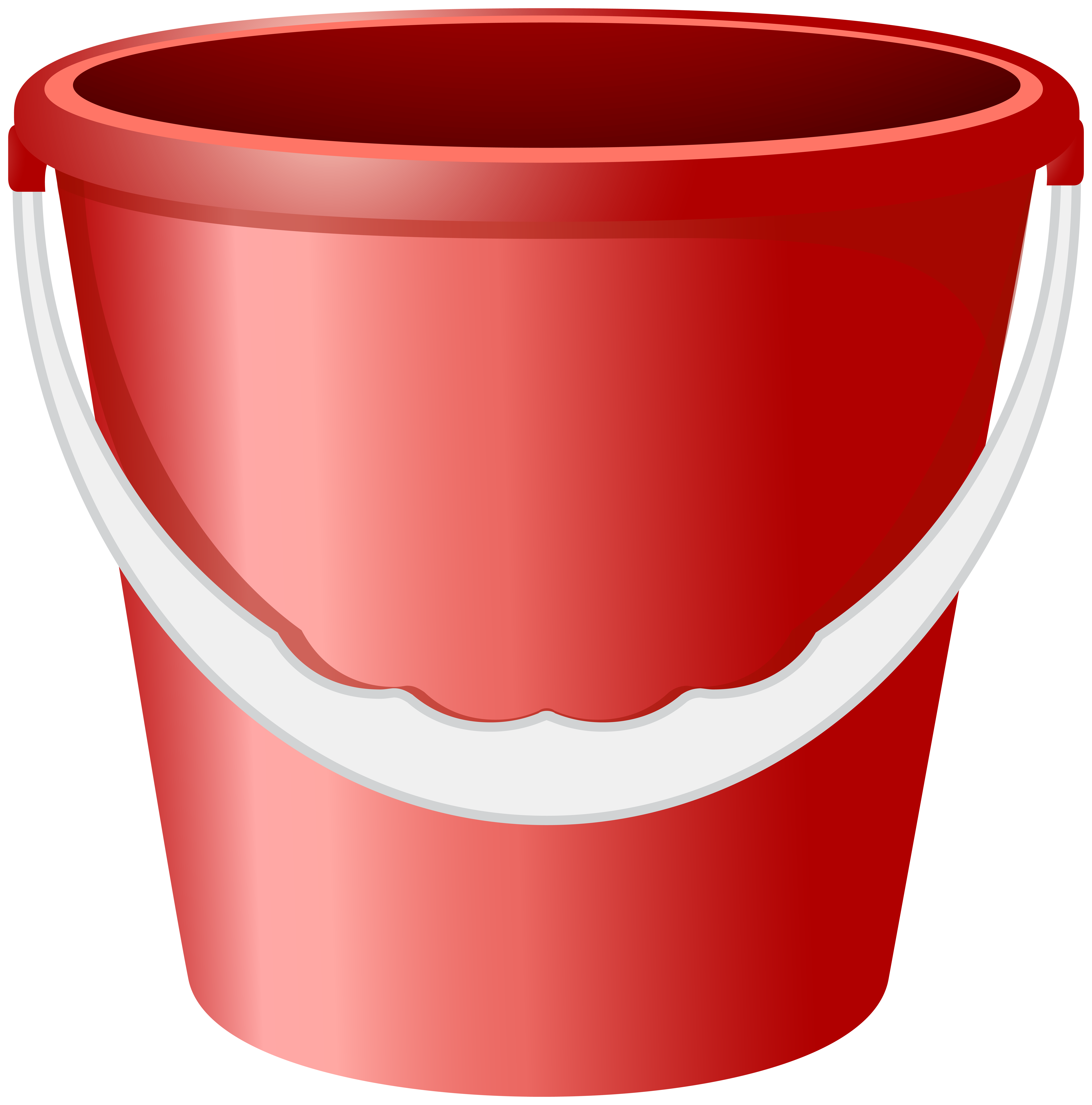 Red Bucket PNG Clip Art Image.
