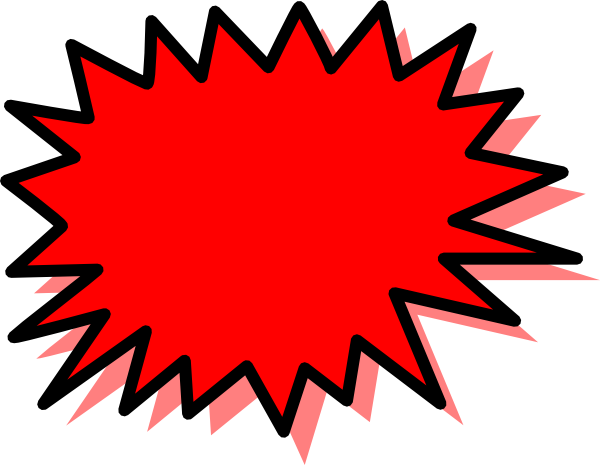 1803 Explosion free clipart.