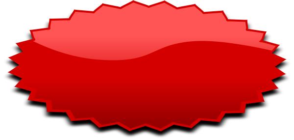 burst oval red.