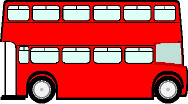 Big Red Bus Clipart.