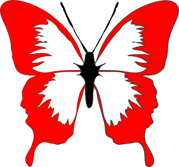 Red Butterfly Clip Art at Clker.com.