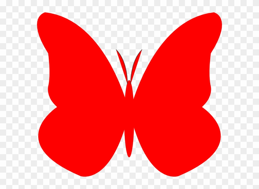 Red Butterfly Cliparts 9.