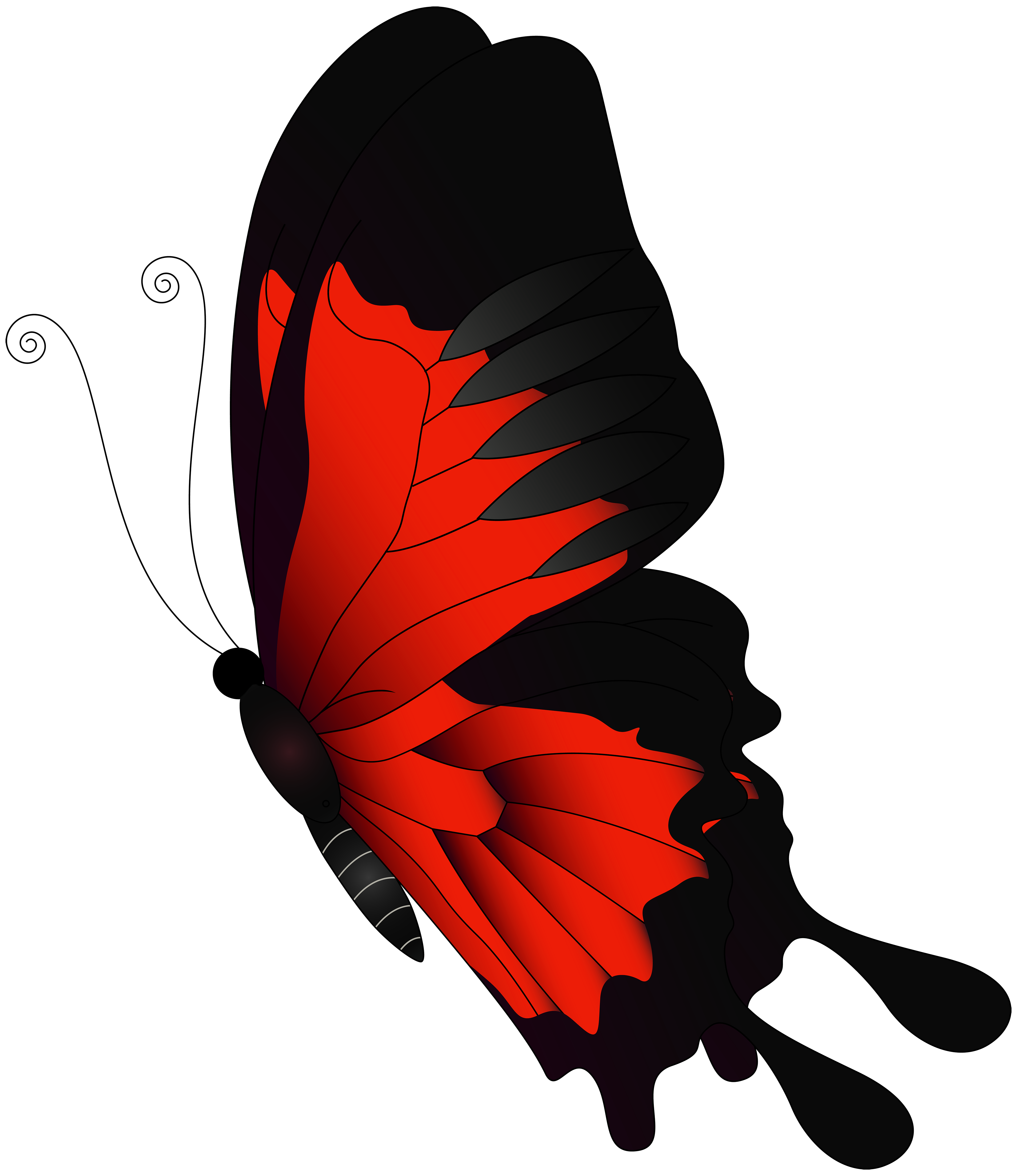Red Flying Butterfly PNG Clip Art.