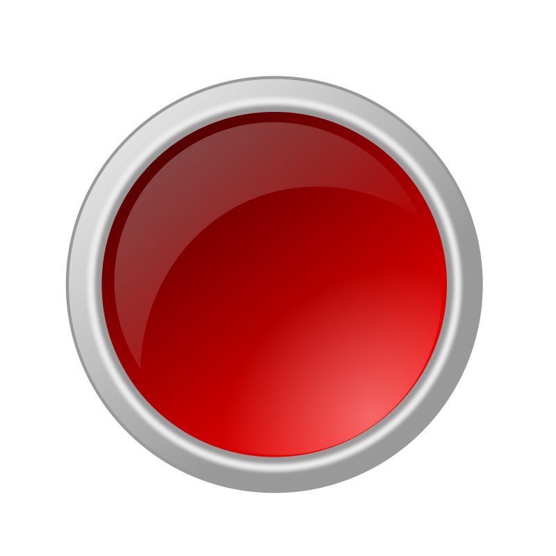 Free Clipart: Glossy red button.