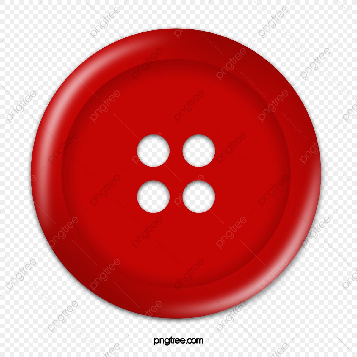 Red Button, Button Clipart, Button, Clothes Button PNG.