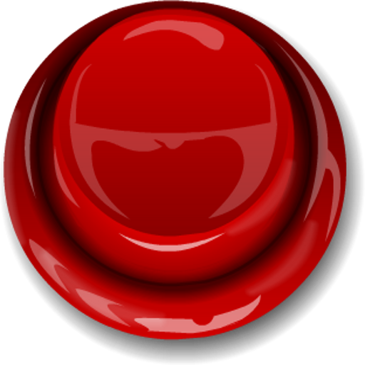 Red Button Transparent Image.