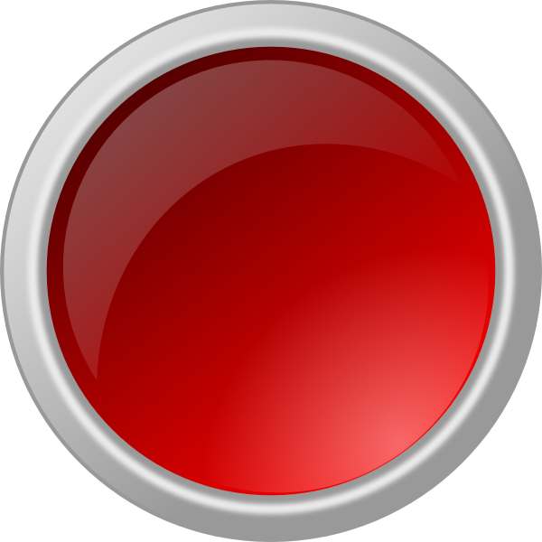 Glossy Red Button PNG, SVG Clip art for Web.
