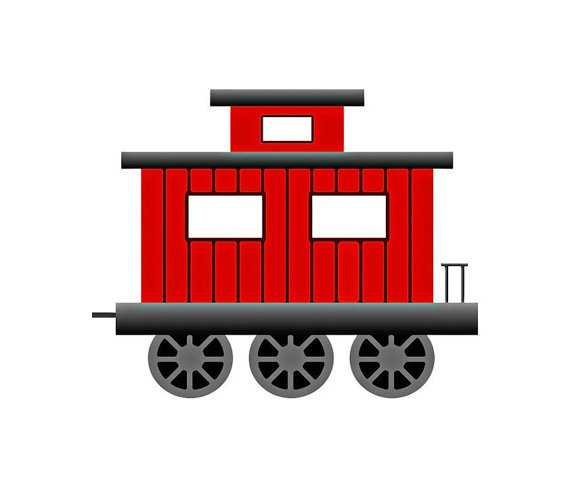 Collection of Caboose clipart.