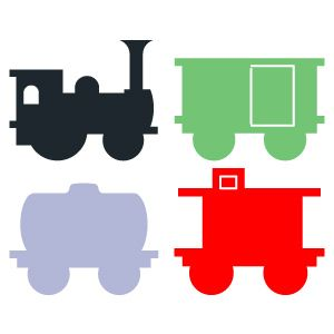 Little red caboose clip art.
