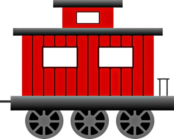Train Image, Train Poster, Caboose Image, Train Wall Art.