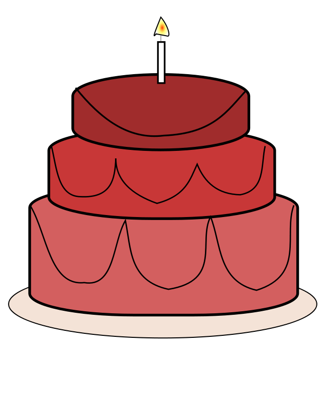 Red cake clipart 1 » Clipart Portal.