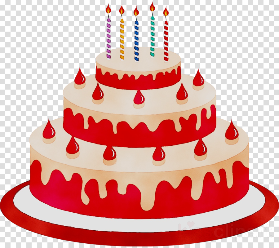 Cartoon Birthday Cake clipart.