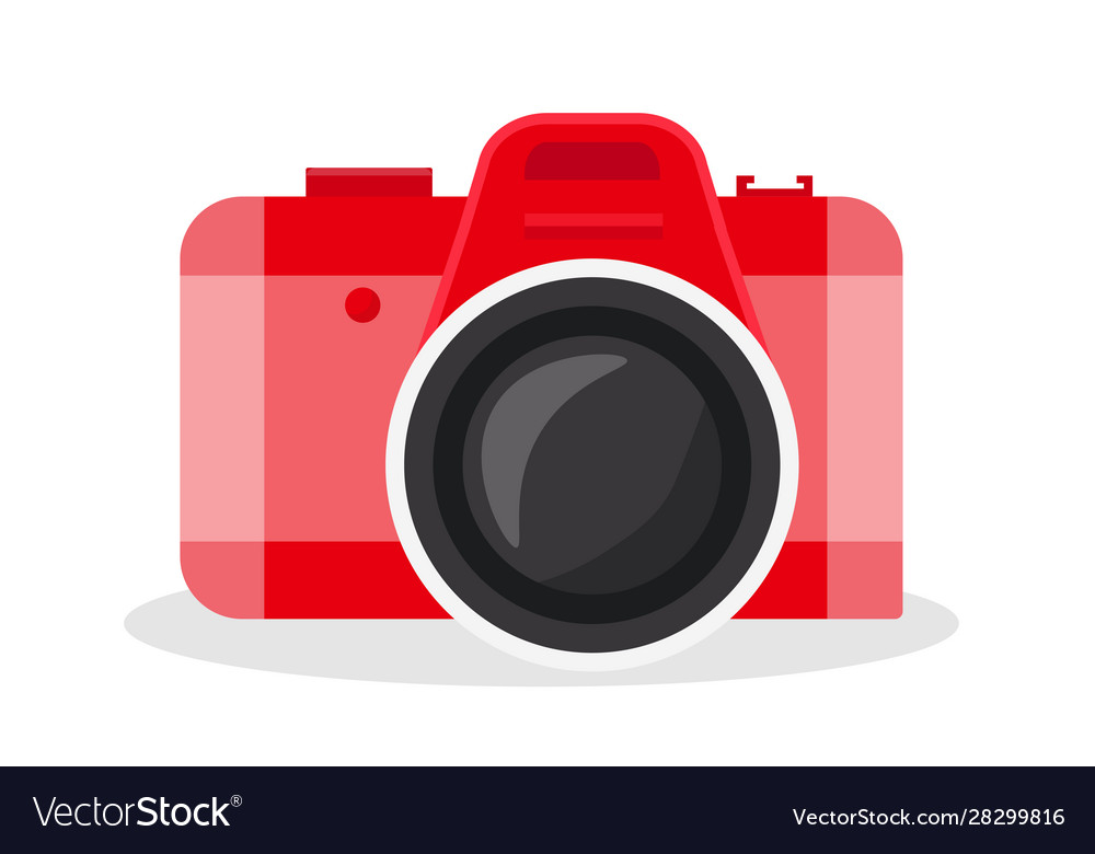 Red camera cartoon.