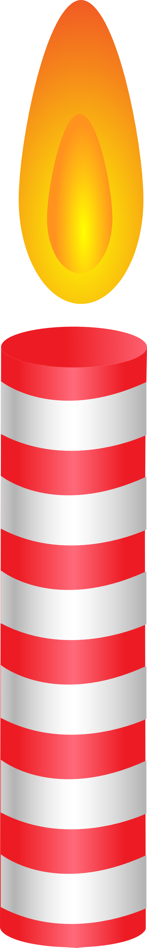 Red Candle Clip Art.
