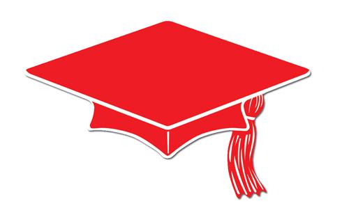 Red graduation cap clip art clipart.