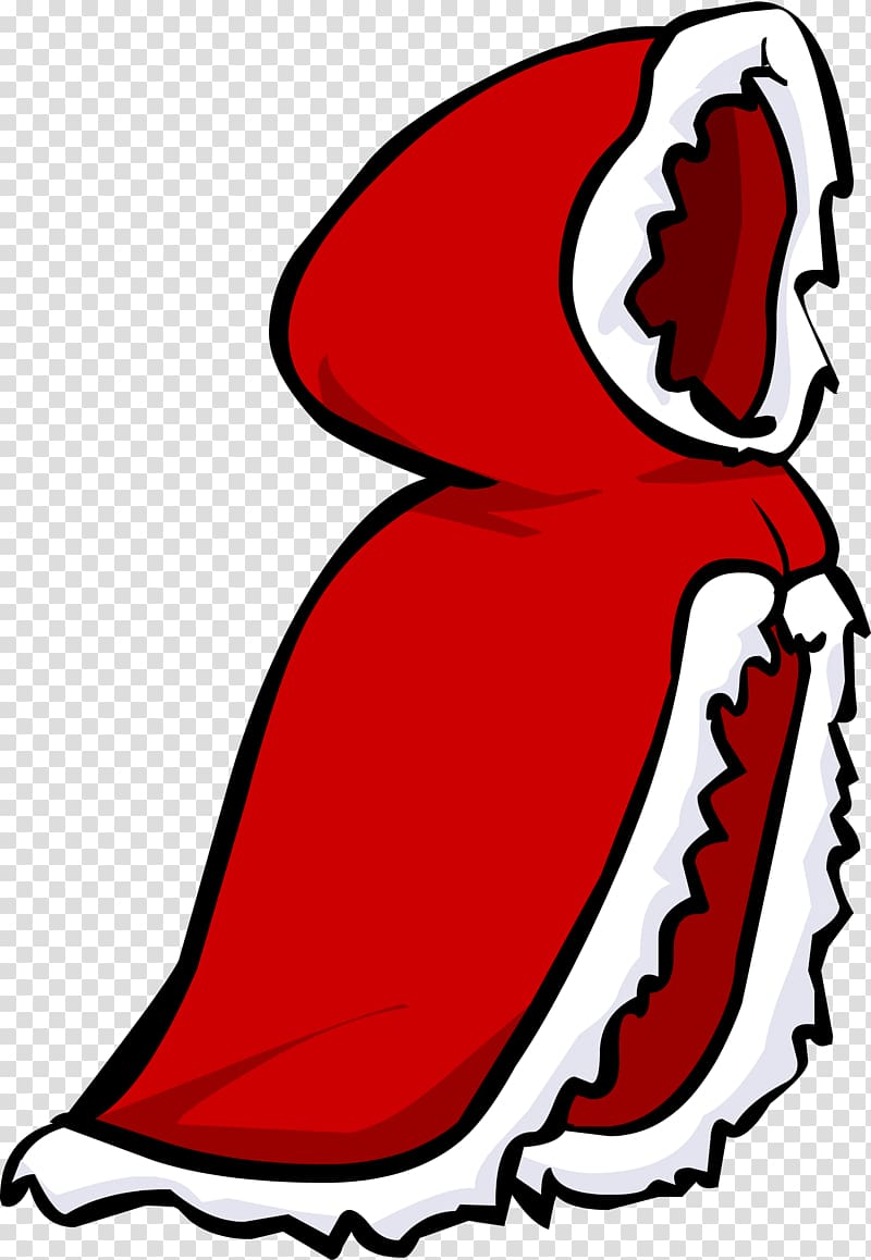 Club Penguin Cape Red , cape transparent background PNG.