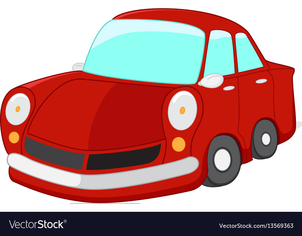Red car cartoon.