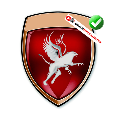 Red Car Emblem Logo.