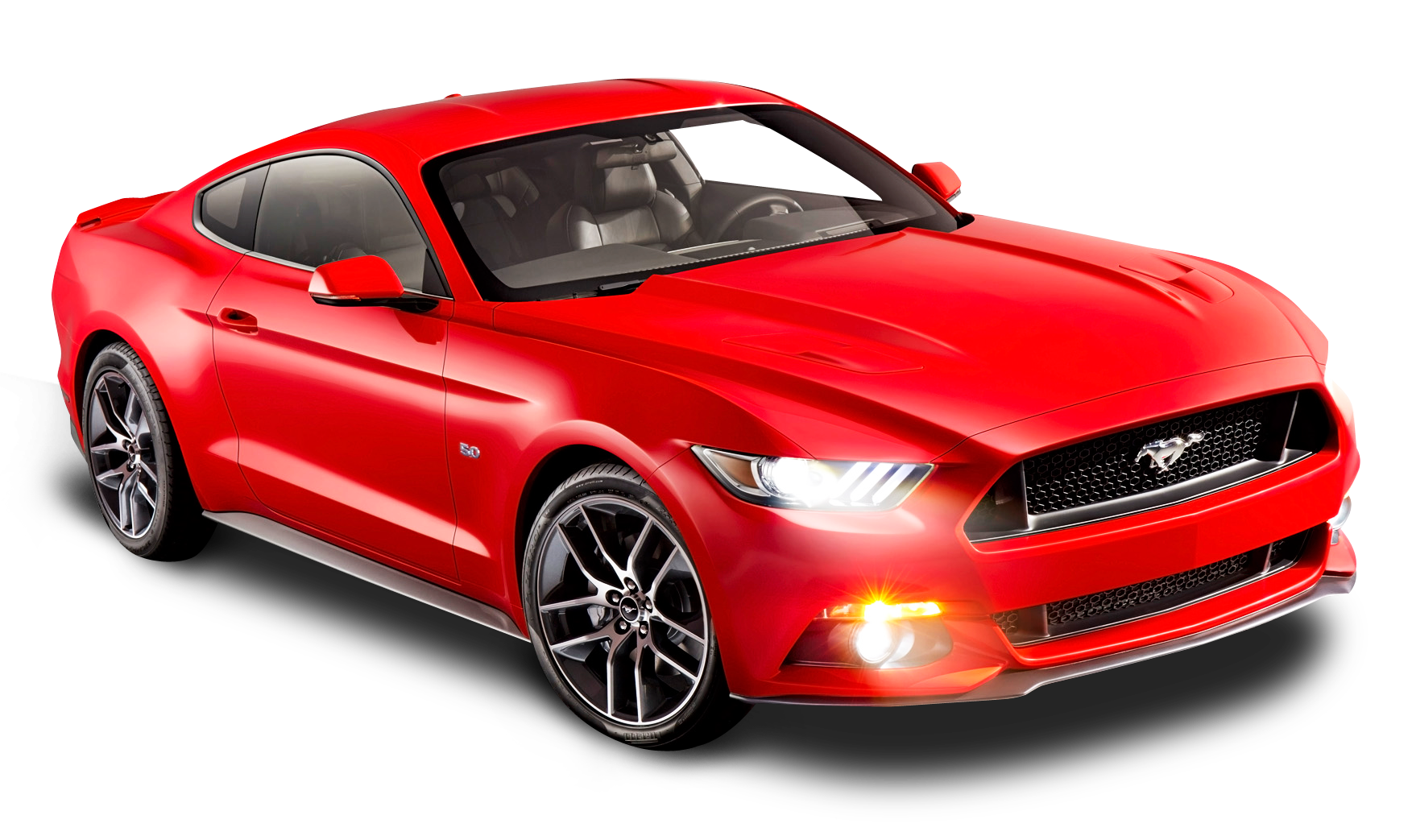 Ford Mustang Red Car PNG Image.