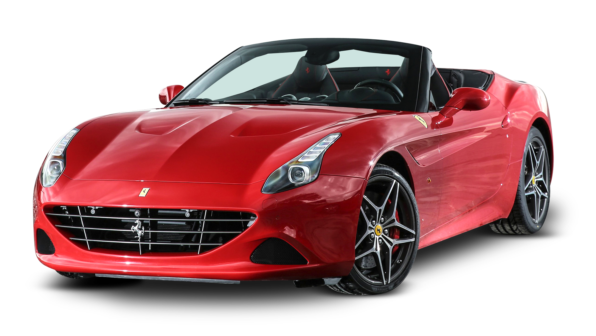 Ferrari California Red Car PNG Image.