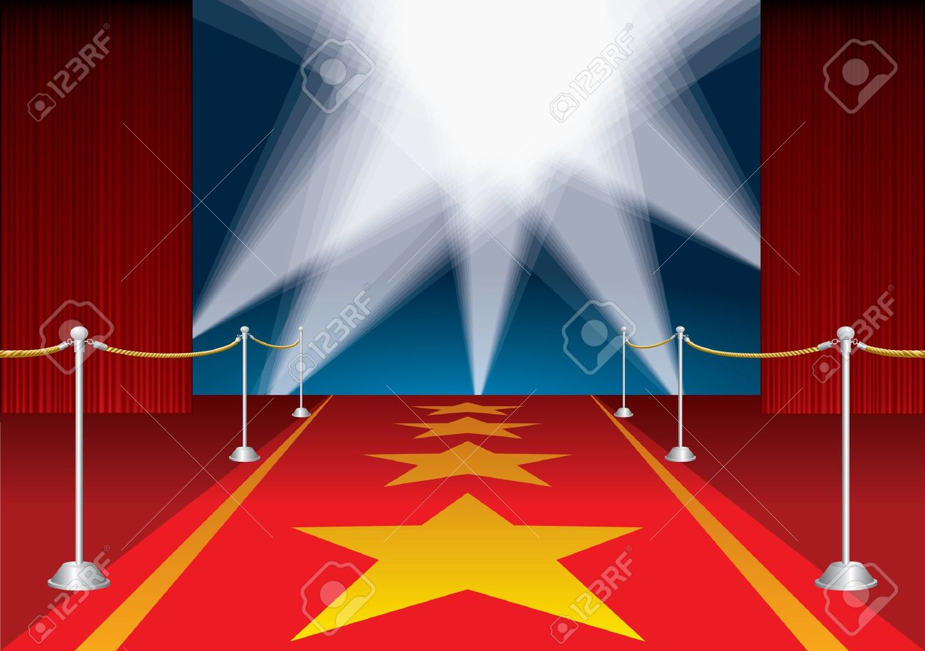 Movie Star Red Carpet Clipart.