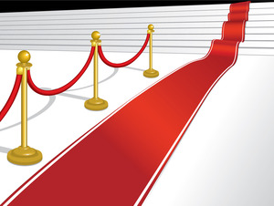 Hollywood red carpet clipart.