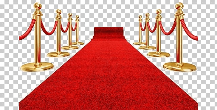 Red Carpet, red carpet and stanchion post illustration PNG.