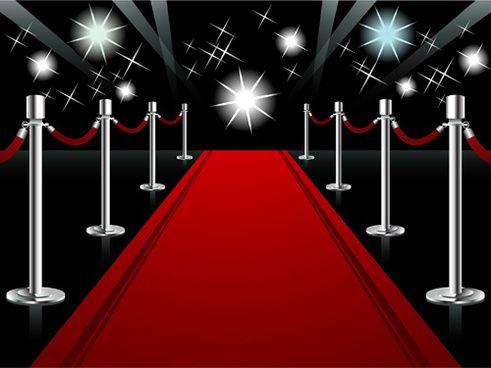 ornate red carpet backgrounds vector.