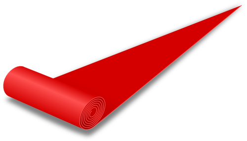Red carpet vector drawing.