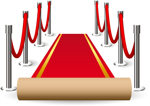 Noble Red Carpet vector set 03 free download.