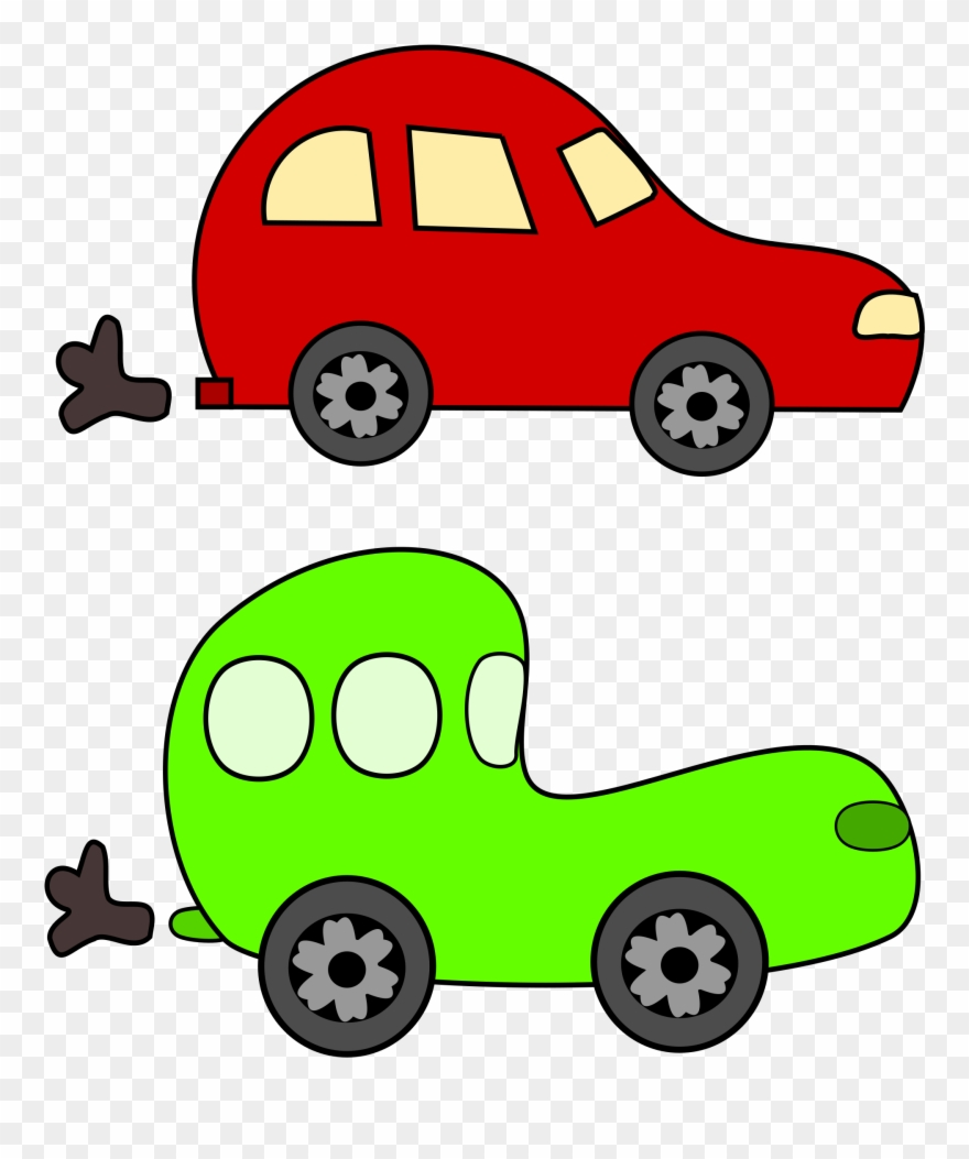 Car Cartoon Clip Art Clipart Green And Red Cars.