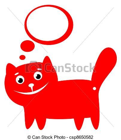 Clip Art of happy cat.