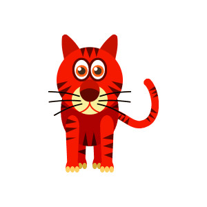 Showing post & media for Cartoon red cat clip art.