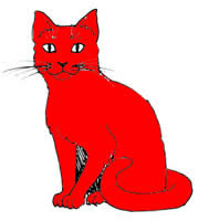 Red Cat Clipart.