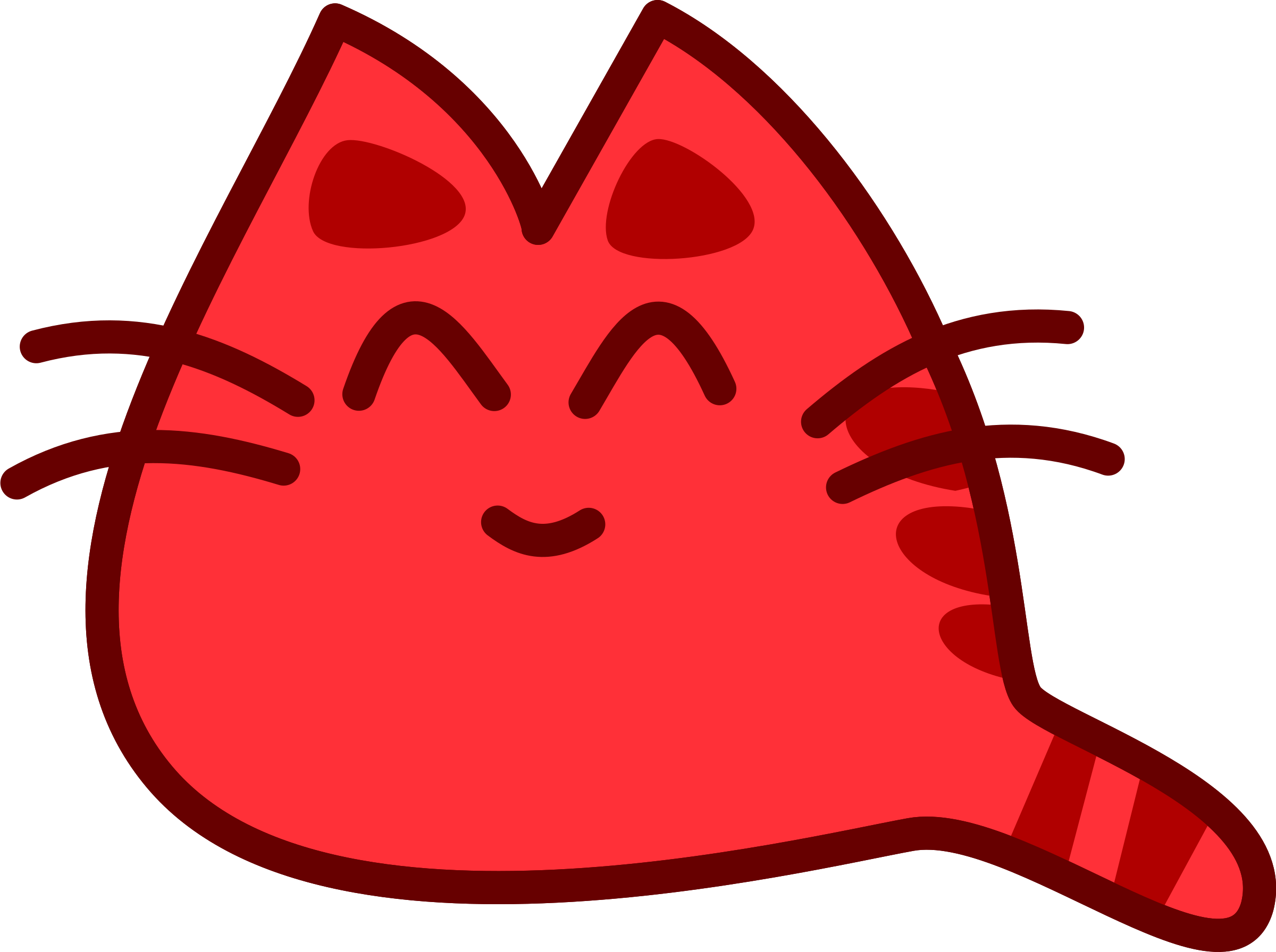 Image result for red cat clipart