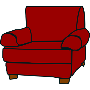 Crimson Red Armchair clipart, cliparts of Crimson Red.