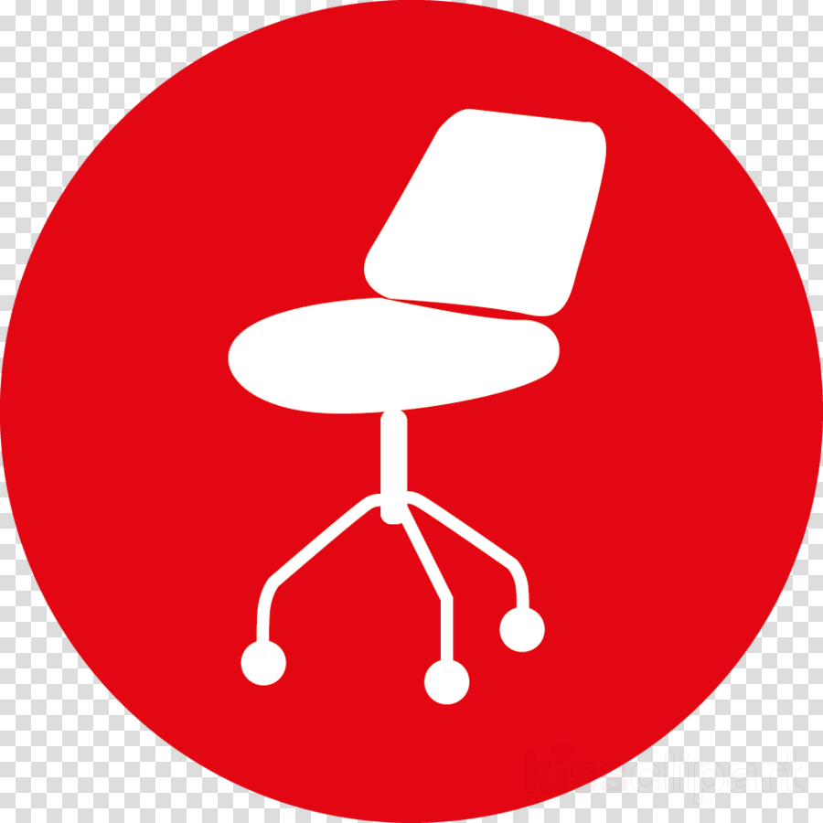 red chair furniture office chair material property clipart.