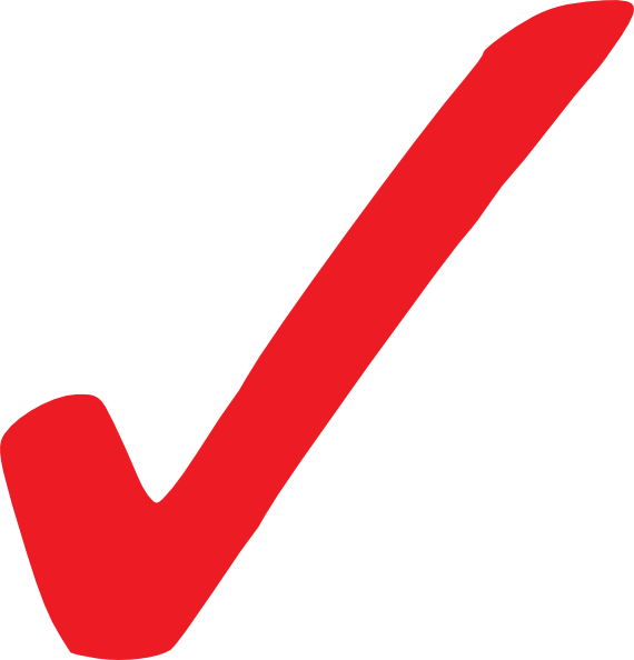 Transparent Red Checkmark Clip Art at Clker.com.