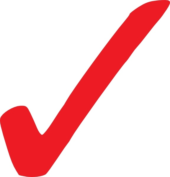 Simple Red Checkmark clip art Free vector in Open office.
