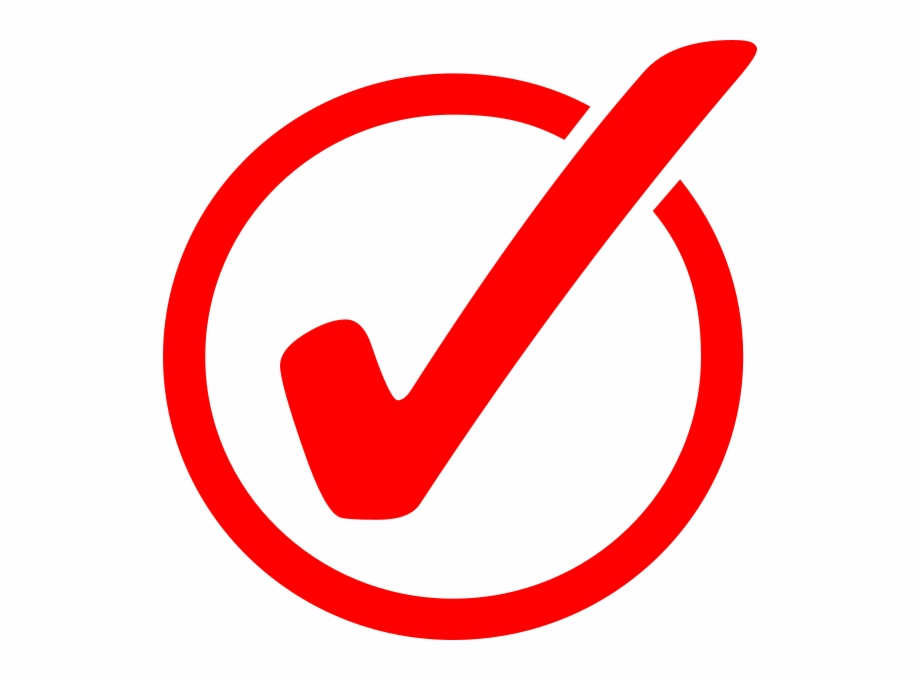 Free Red Check Mark Transparent, Download Free Clip Art.