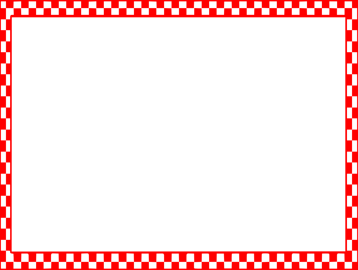 Red and white check border clipart images gallery for free.