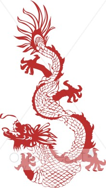 Red chinese dragon clipart 4 » Clipart Station.