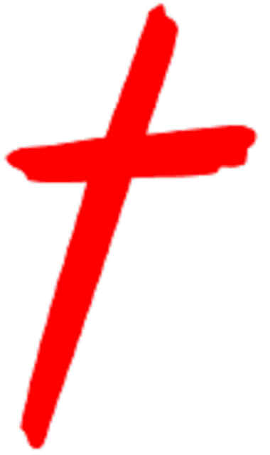 Red Christian Cross A Christian Community Website.