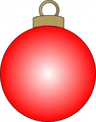 Christmas Ball clip art template.