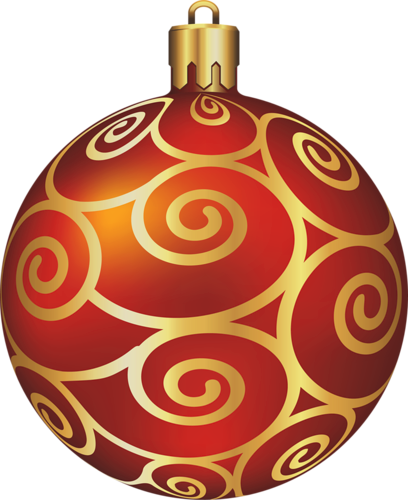 Transparent Large Red Christmas Ball.