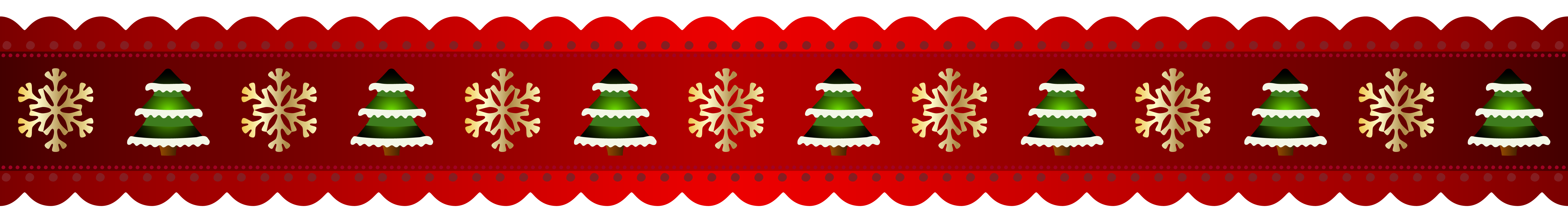 Red Christmas Border PNG Clip.