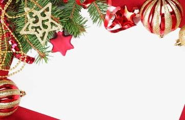 Red Christmas Border PNG, Clipart, Border Clipart, Christmas.