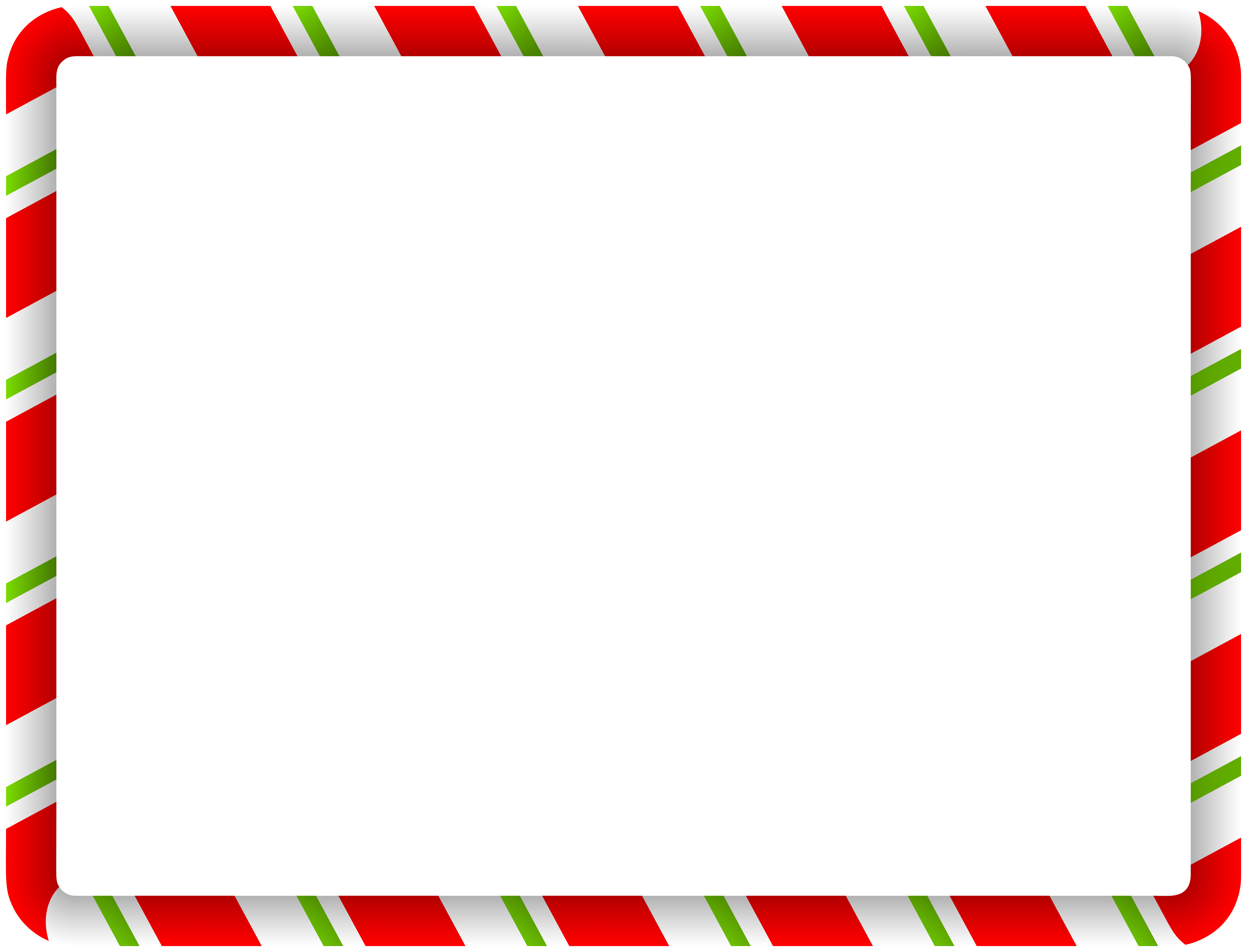 Red And Green Christmas Border Clipart.