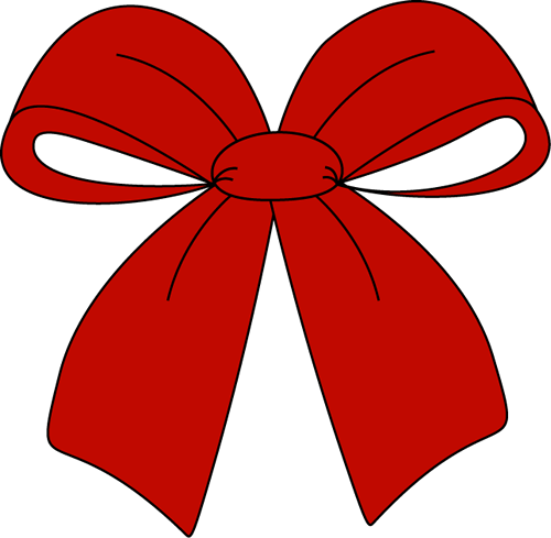 Red Christmas Bow Clip Art.